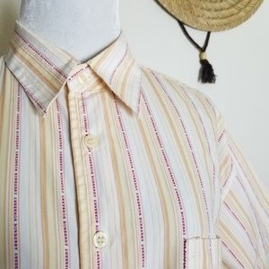 90s Burberry Spelled out button down shirt #A